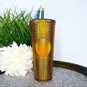 Starbucks Gold Copper Studded 50 Year Cup Venti